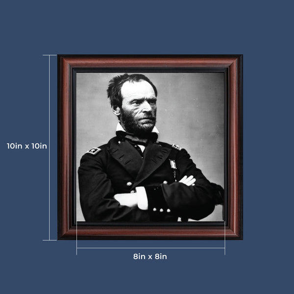 General William Tecumseh Sherman, Military Images, Historical Picture Frame, 10x10 8543