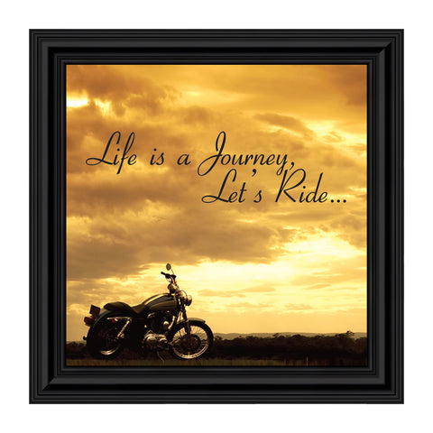 Life's a Journey, Gifts for Motorcycle Riders, Harley Davidson Photo Frame, 10x10 8550