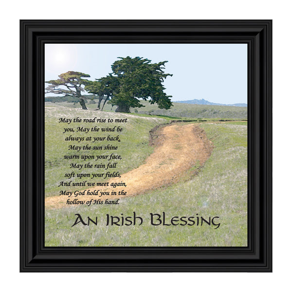 An Irish Blessing, May the Road Rise to Meet You, Celtic Home Blessing Wall Decor, 10x10, 8586