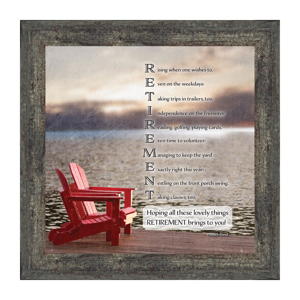 Job Retirement, Framed Gift for Men and Women who are Retiring, Retirement Party Decoration,10x10 8601
