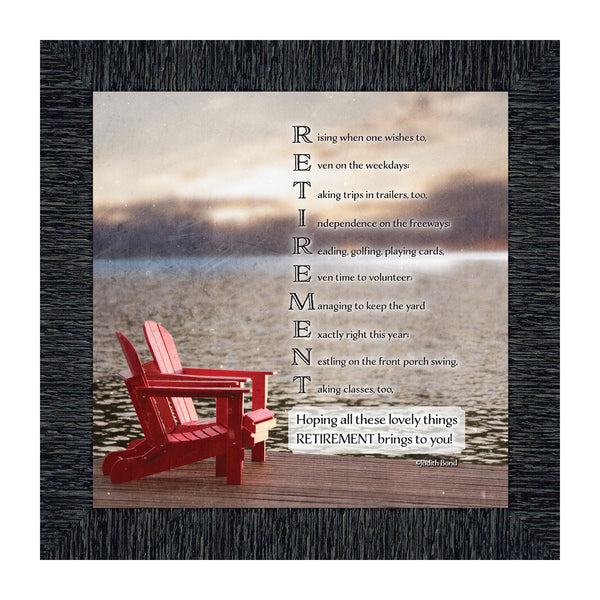 Retirement, Gift idea for Men and Women, Retirement Gift Picture Frame, 10X10 8601