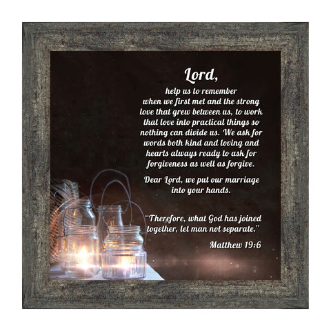 Marriage Payer With Scripture Version 2, Picture Frame, 10X10 8613