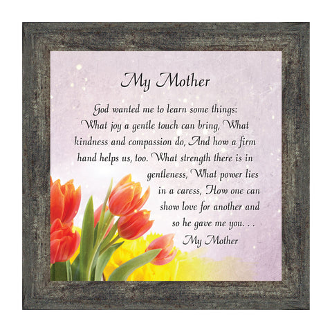 Elegantly Yours My Mother, Gift from Daughter for Mother, Picture Frame for Mom, 10x10 8621