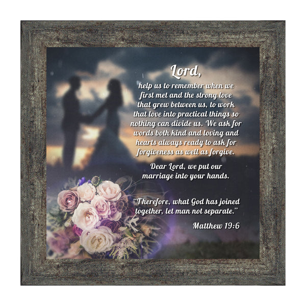 Marriage Prayer with Scripture, A Matthew Bible Verse, True Love Picture Frame, 10x10 8624