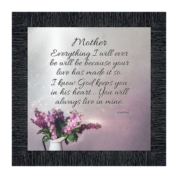 Mother, Gift from Daughter for Mom on Mother's Day, Picture Framed Poem for Mom, 10x10 8625