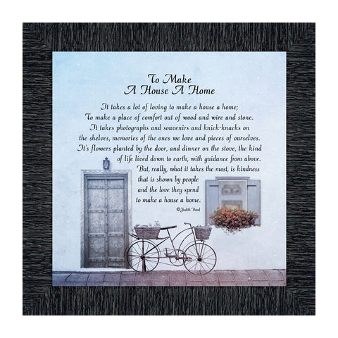 Elegantly Yours to Make a House a Home, Home Décor, Inspirational Gifts for Home, 10x10 8632