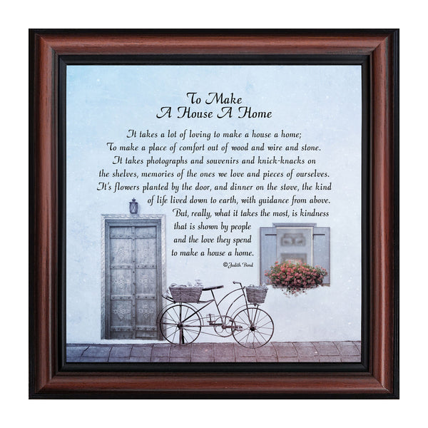 To Make a House a Home, House Warming Gift New Parents, Inspirational Gifts for Home, 10x10 8632