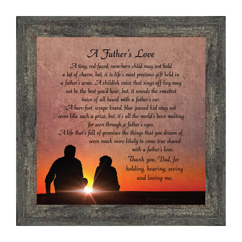A Father's Love, Dad Gifts, Father And Son, Picture Frame 10x10 8634