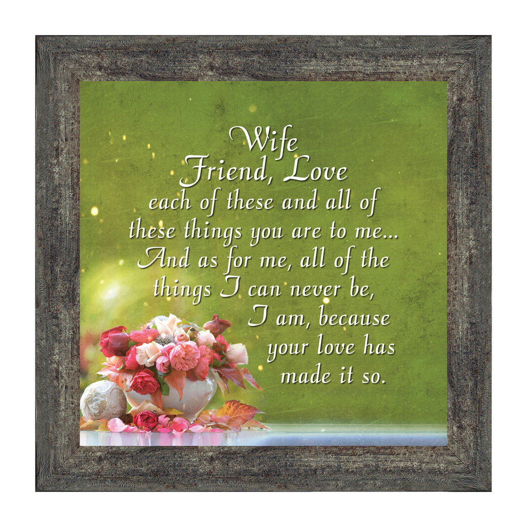 Elegantly Yours Wife, Friend, Love; Romantic Gifts for Wife from Husband, Romantic Picture Frame, 10x10 8635