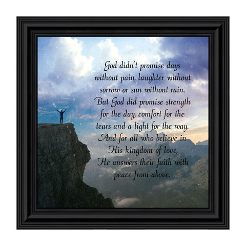 God's Promise, Poem of Peace, Picture Frame 10x10 8637