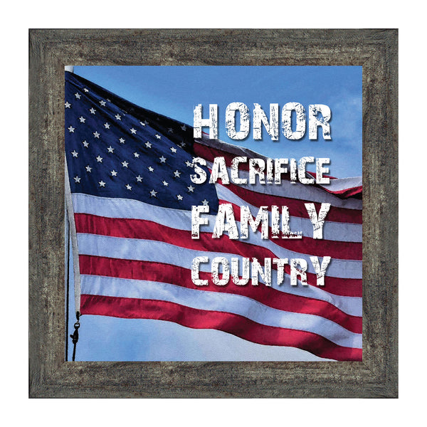 A Soldier's Honor, Military Gift, American Veteran Picture Frame, 10x10 8638