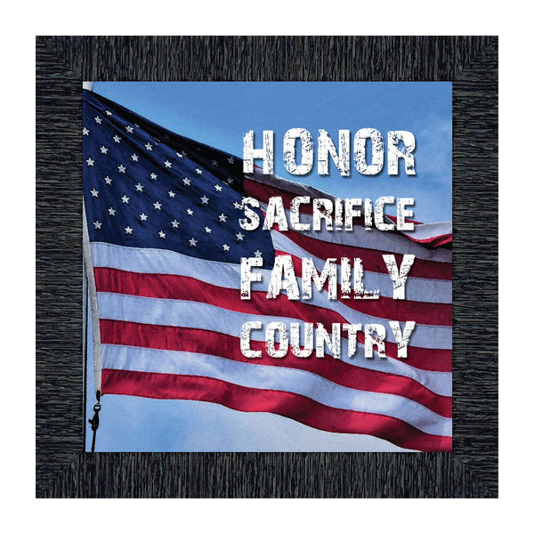 A Soldiers Honor, Military Gift, American Picture Frame, 10x10 8638