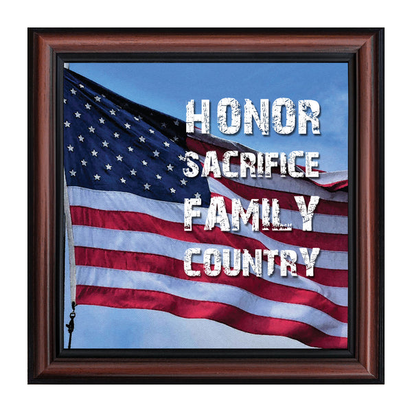 A Soldiers Honor, Military Gift, American Picture Frame, 8x8 8638