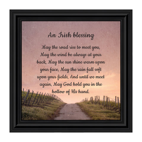 an Irish Blessing, Irish Blessing Picture Frame, May The Road Rise to Meet You, 10x10 8643