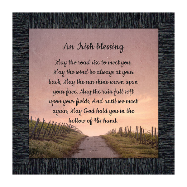 An Irish Blessing, May the Road Rise to Meet You, Celtic Home Blessing Wall Decor, 10x10, 8643