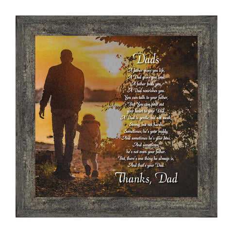 Elegantly Yours Dad, Meaningful Picture Frame Gifts for Dad, 10x10 8645