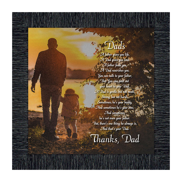 Thanking Dad For All He Has Done, Meaningful Picture Frame For Your Father, 10x10 8645