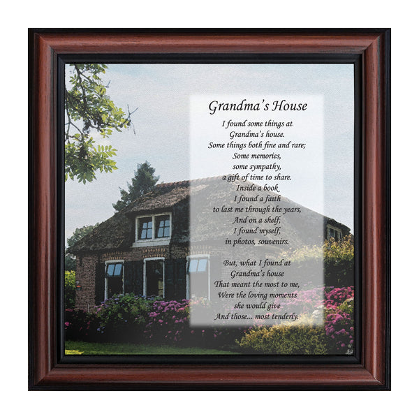 Grandmas House, Thanking Grandma For All She Has Done, Framed Poem, 10x10 8646