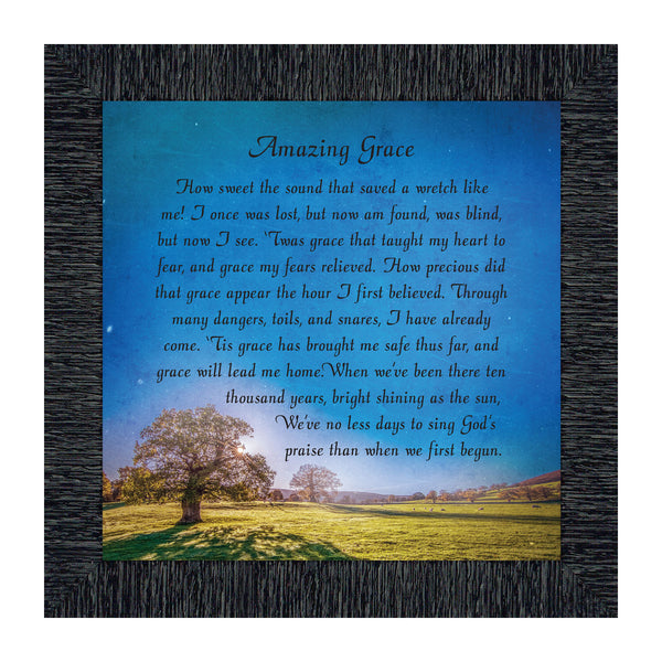 Elegantly Yours Amazing Grace, in Memory of Loved One, Gifts Religious, 10x10 8648