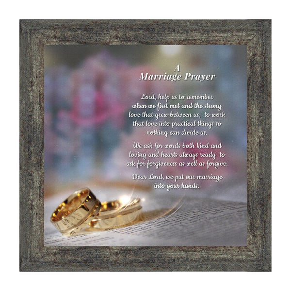 Framed Prayer for Your Marriage, Christian Wedding Gift for Bride and Groom, 10X10 8657
