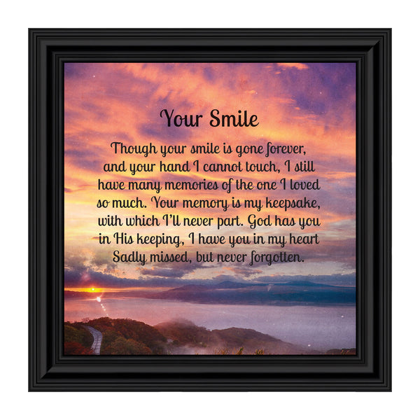Elegantly Yours Your Smile, Memory Picture Frame, Sympathy Gifts,10x10 8658