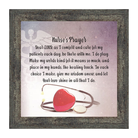 Elegantly Yours Nurses Prayer, Gift For Nurses, Picture Frame Nurses,10x10 8659
