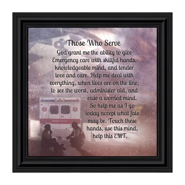 Elegantly Yours Those Who Serve, Picture Frame for Paramedic, 10x10 8661