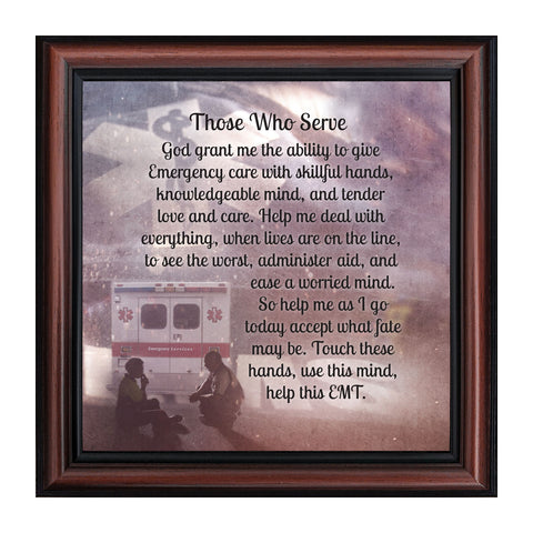 Elegantly Yours Those Whoe Serve, Picture Frame for Paramedic, 10x10 8661