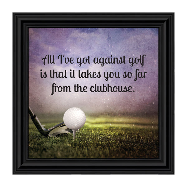Golf, Funny Golf Gifts for Men and Women, Picture Framed Poem, 10X10 8664