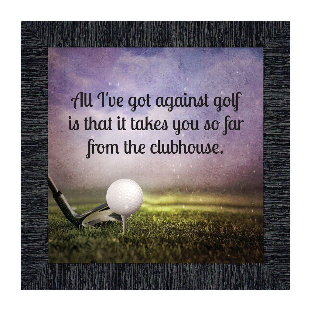 Golf Funny Golf Gifts For Men And Women Picture Framed Poem 10x10 8 Crossroads Home Decor