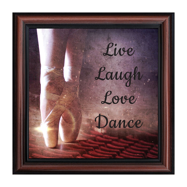 Ballet, Dancer Gifts for Teen Girls or Women, Framed Ballet Slippers, 10x10 8665