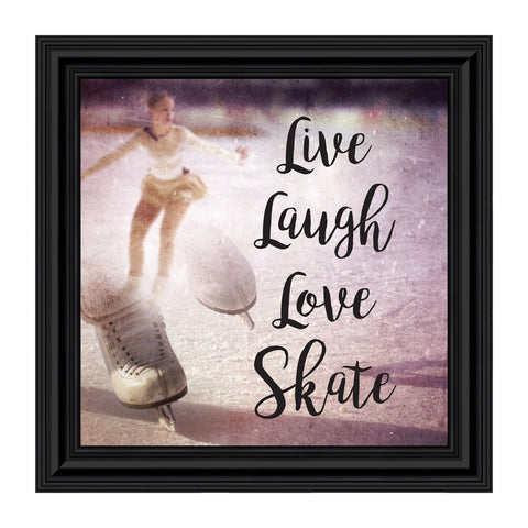 Elegantly Yours Figure Skating Picture Frame, Skater Wall Art, 10x10 8666