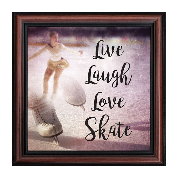 Figure Skating Picture Frame, Ice Dancer or Skater Decor Wall Art, 10x10 8666