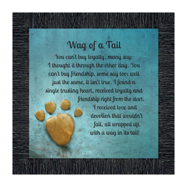 Wag of a Tail, Appreciation of Your Family Pet Dog Framed Poem, 10X10 8669