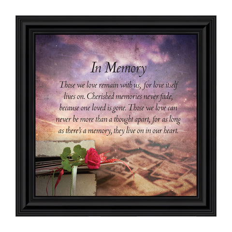 Crossroads Home Décor In Memory of Loved One, Memorial Gifts Picture Frames, Bereavement Gifts for Sympathy Baskets or Condolence Card, Sympathy Gifts for Loss of Mother, Loss of Father Gift Memory Framed Poem, 8672