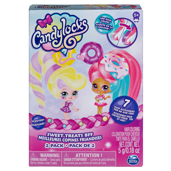 "Candylocks, BFF 2-Pack, 3"" Jilly Jelly and Donna Nut, Scented Collectible Dolls with Accessories"