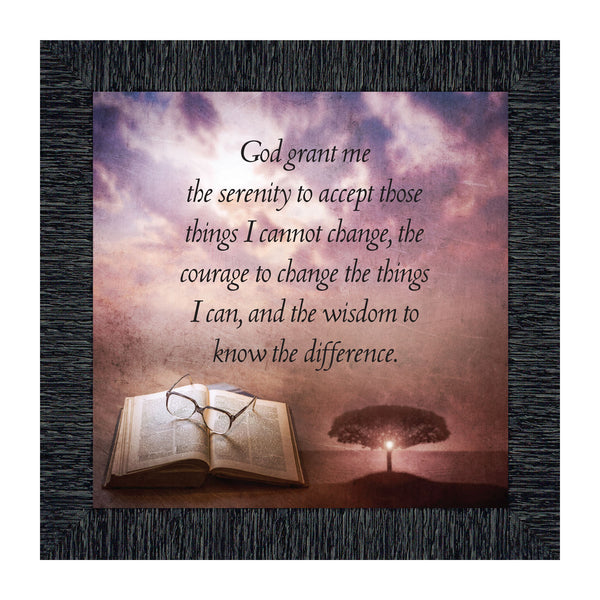 Serenity Prayer, God Grant me the Serenity Picture Frame, 10x10 8674