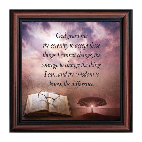 Serenity Prayer, Serenity Prayer Wall Decor, Prayer Art, 10x10 8674