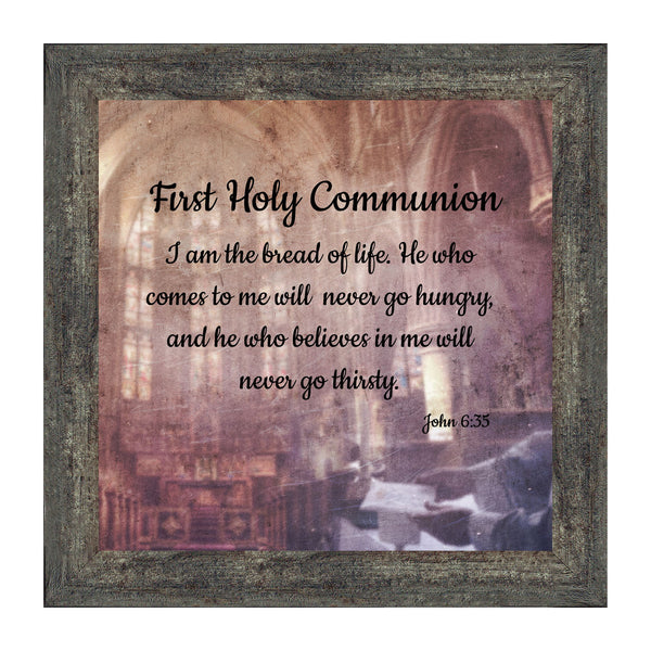 First Holy Communion, Religious Decor, Confirmation Picture Frame, 10x10 8678