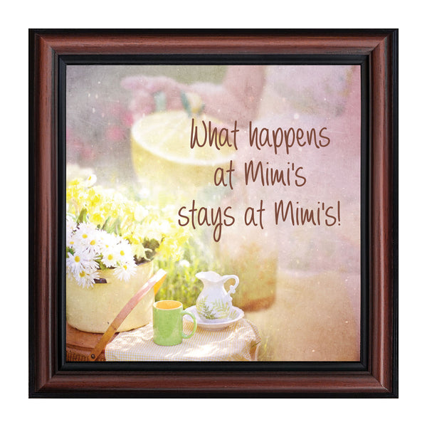 Mimi's House, Gift for Grandparent, Picture Frame for Grandmother, 10x10 8679