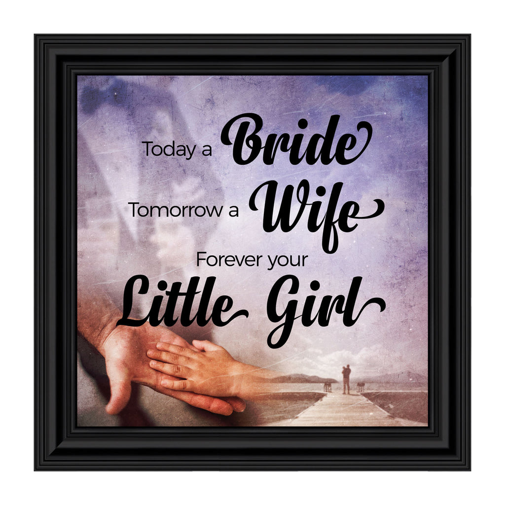 Forever Your Little Girl, Gift for Your Parents, Wedding Themed Picture Frame, 10x10 8681