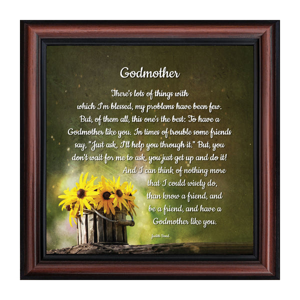 Godmother, Baptism Gift, Religious Picture Frame, 10x10 8682