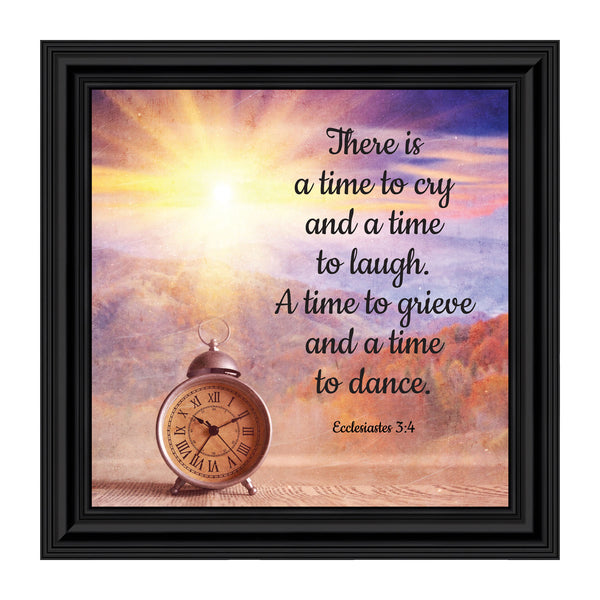 A Time for Everything, Religious Memory Gift, Decorative Scripture Art, 10x10 8684