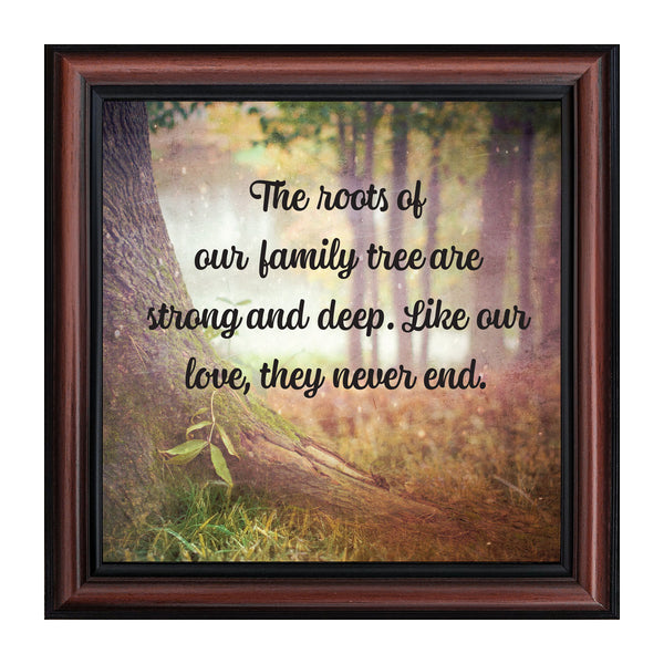 Our Roots, Inspirational Wall Art Decor, Family Picture Frame, 10x10 8694