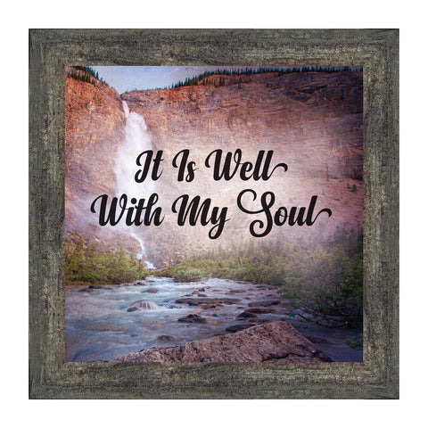 It is Well with My Soul, Hymn Art, Religious Picture Frame, 10x10 8695