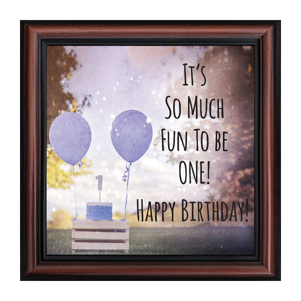 First Birthday for Baby Boy, My First Year Moments, Baby Keepsake Picture Frame, 10x10 8696