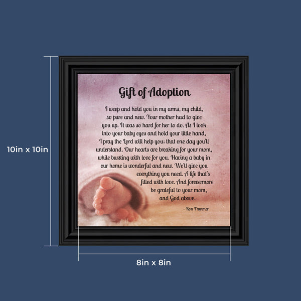 Gift of Adoption, Gifts for The Family, Baby Keepsake Frame, 10x10 8697