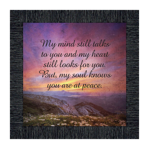 You are at Peace, Remembrance Gift, Memories Picture Frame, 10x10 8700