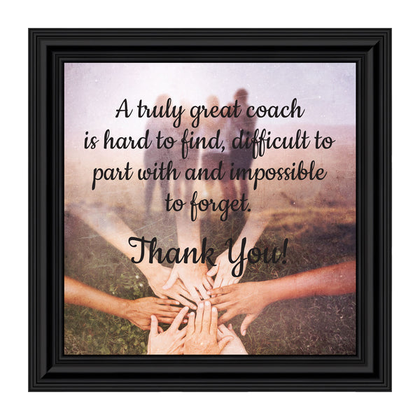 Coach, Thank You Gift, Team Picture Frame, 10x10Coach Picture Frame, Coach Thank You Gift for Men or Women, Coaches Gifts for Basketball Coach, Volleyball Coach, Football Coach or Cheer Coach, Team Coach Gift for Baseball or Softball, 8703
