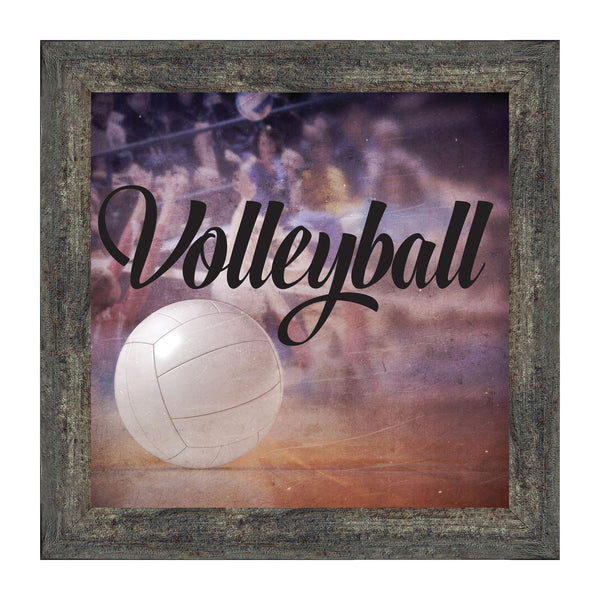Volleyball Themed Wall Art for Player or Coach , 10x10 8704